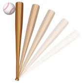 Baseball ball and bat — Stock Vector