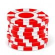 Red casino chips — Stock Vector