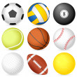 Stock Vector: Sport ball