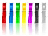 Clothes pins — Stock Vector