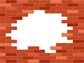 Crashed brick wall — Stock Vector