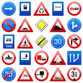 Road signs set 2 — Stock Vector