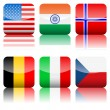 Royalty-Free Stock Vector Image: Square national flags icon set 2