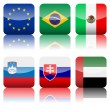 Square national flags icon set 3 — Stock Vector #22397745