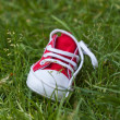 Kids shoe on grass - Stock Photo