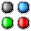 Color circle shields — Stock Vector