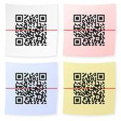 QR barcode sticker — Stock Vector