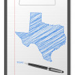 Clipboard Texas map — Grafika wektorowa