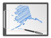 Clipboard Alaska map — Stock Vector