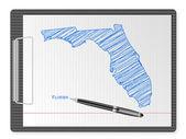 Clipboard Florida map — Stock Vector