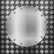 Carbon background and circle plate - Imagen vectorial
