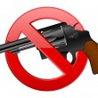 No revolver — Stock Vector