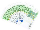 Isolated thousand euros — Stock Photo