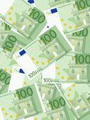 One hundred euro background — Stock Vector