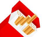 Sigaretta box — Vettoriale Stock
