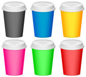 Color plastic cup — Stock Vector