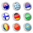 3D national flag icon 5 — Stock Vector