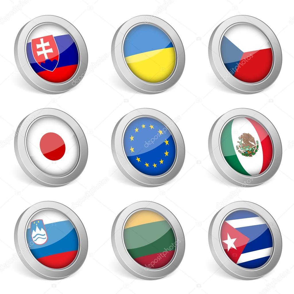国旗图标 2 — 图库矢量图像08