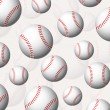Stock Vector: Baseball balls background