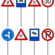 Traffic road sign set — Stok Vektör