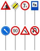 Traffico stradale segno insieme — Vettoriale Stock
