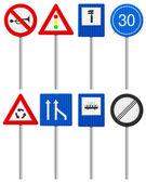 Provoz silniční znamení sada — Stock vektor