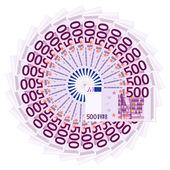 Five hundred euro banknotes — Stock Vector