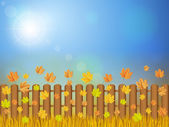 Autumn landscape — Stock Vector