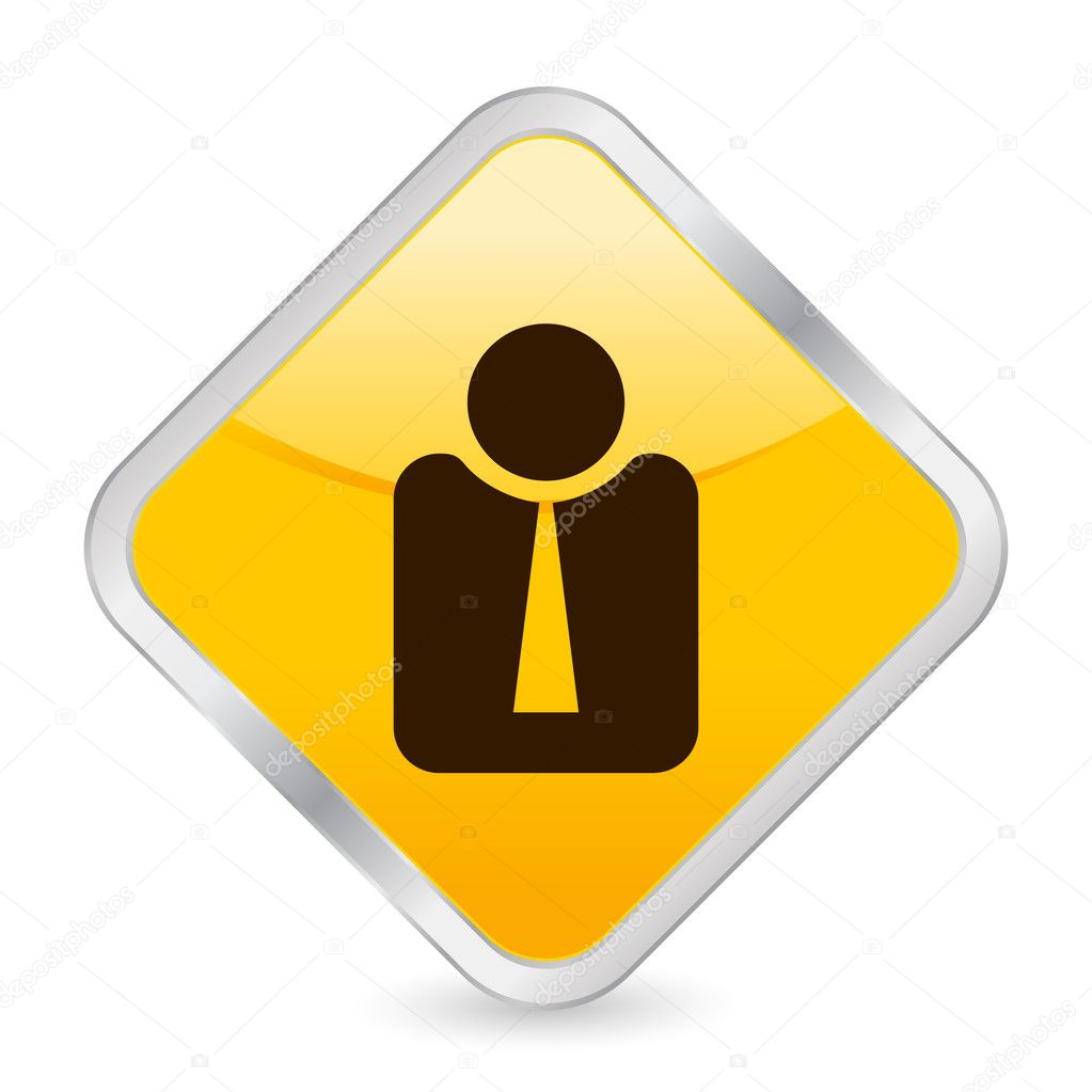 Icon Yellow Yellow Square Icon Isolated on
