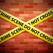 Crime scene background — Stock Vector