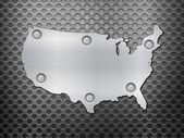 Metalowe mapy usa — Wektor stockowy