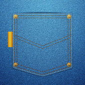 Denim back pocket — Stockvector