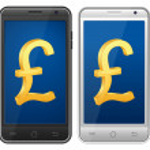 Smartphone pound symbol — Stock Vector #42192671