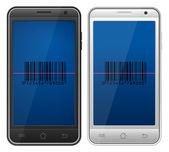 Smartphone bar code — Stock Vector