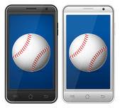 Smartphone baseball — Stockvector