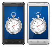 Smartphone kronometre — Stok Vektör