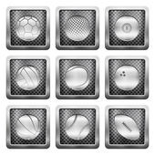 Metal grid icons — Stock Vector