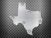 Mapa metal Texas — Vector de stock