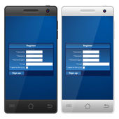 Smartphone register — Stockvektor