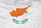 Cyprus flag crumpled paper — Stock Vector