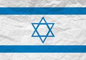 Israel flag crumpled paper — Stock Vector