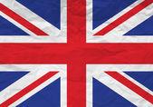 UK flag crumpled paper — Stock Vector
