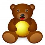 Teddy bear with symbol — Stock Vector #46923359