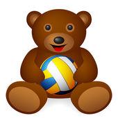 Teddy bear with symbol — Stock Vector