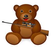 Teddy bear with symbol — Stockvector