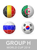 World cup group H — Stock Vector