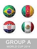 Dünya Kupası grup bir — Stok Vektör
