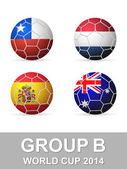 Copa mundial grupo b — Vector de stock