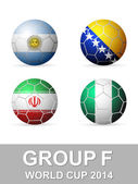 World cup group F — Stock Vector