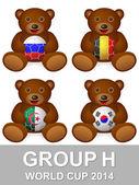 World cup group H bear — Stock Vector
